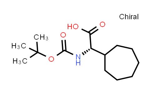 (S)-2-((tert-Butoxycarbonyl)amino)-2-cycloheptylacetic acid