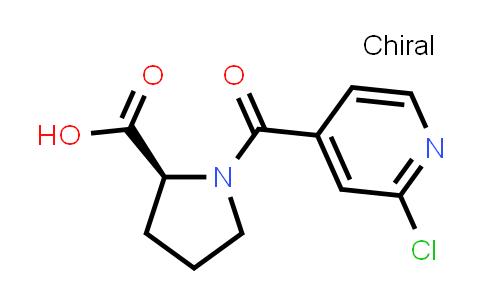 (S)-1-(2-Chloroisonicotinoyl)pyrrolidine-2-carboxylic acid