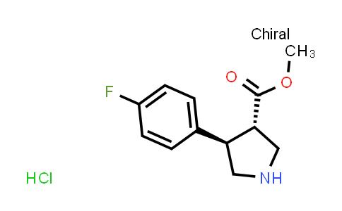trans-methyl 4-(4-fluorophenyl)pyrrolidine-3-carboxylate hydrochloride