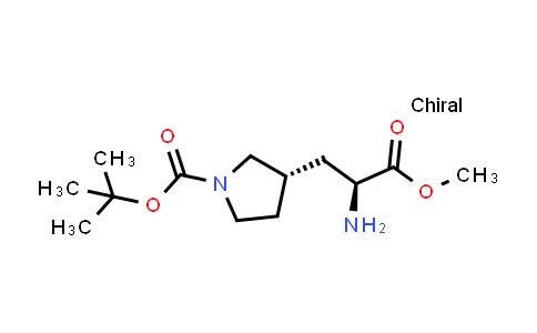 (S)-tert-Butyl 3-((S)-2-amino-3-methoxy-3-oxopropyl)pyrrolidine-1-carboxylate