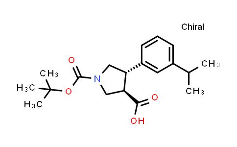 (3R,4S)-rel-1-(tert-Butoxycarbonyl)-4-(3-isopropylphenyl)pyrrolidine-3-carboxylic acid