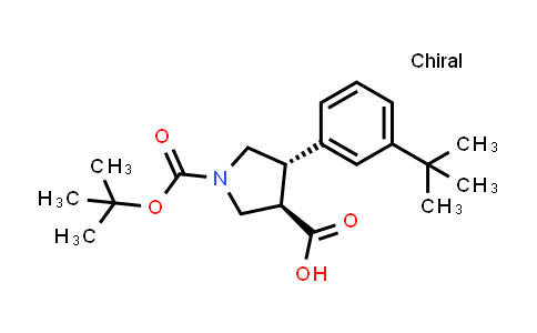 (3R,4S)-rel-1-(tert-Butoxycarbonyl)-4-(3-(tert-butyl)phenyl)pyrrolidine-3-carboxylic acid