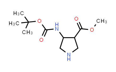 Methyl 4-((tert-butoxycarbonyl)amino)pyrrolidine-3-carboxylate