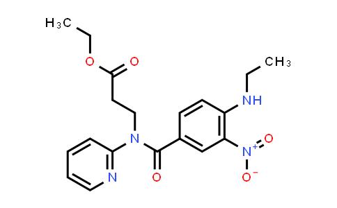 Ethyl 3-(4-(ethylamino)-3-nitro-N-(pyridin-2-yl)benzamido)propanoate