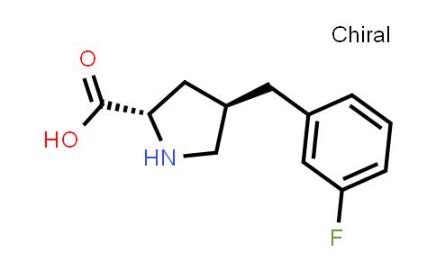 (2S,4R)-4-(3-Fluorobenzyl)pyrrolidine-2-carboxylic acid