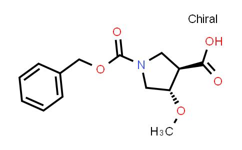 trans-1-((benzyloxy)carbonyl)-4-methoxypyrrolidine-3-carboxylic acid