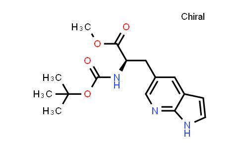 (R)-Methyl 2-((tert-butoxycarbonyl)amino)-3-(1H-pyrrolo[2,3-b]pyridin-5-yl)propanoate