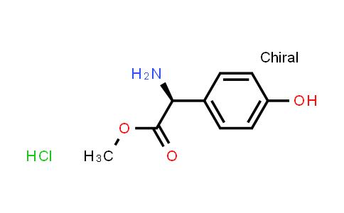 (S)-Methyl 2-amino-2-(4-hydroxyphenyl)acetate hydrochloride
