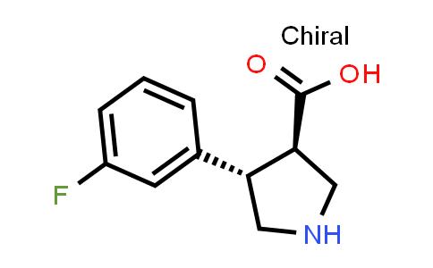 (3R,4S)-rel-4-(3-Fluorophenyl)pyrrolidine-3-carboxylic acid