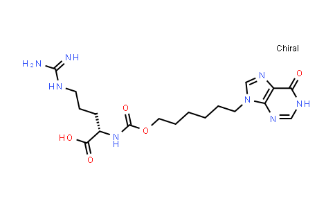 (S)-5-Guanidino-2-((((6-(6-oxo-1H-purin-9(6H)-yl)hexyl)oxy)carbonyl)amino)pentanoic acid