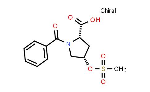 (2S,4S)-1-Benzoyl-4-((methylsulfonyl)oxy)pyrrolidine-2-carboxylic acid