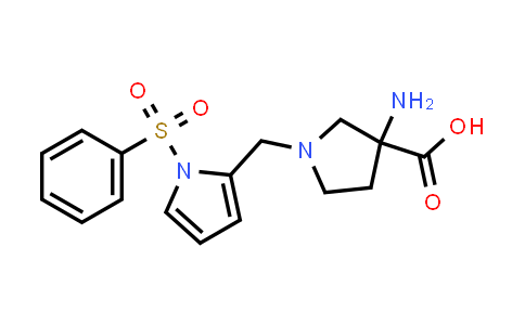 3-amino-1-((1-(phenylsulfonyl)-1H-pyrrol-2-yl)methyl)pyrrolidine-3-carboxylic acid