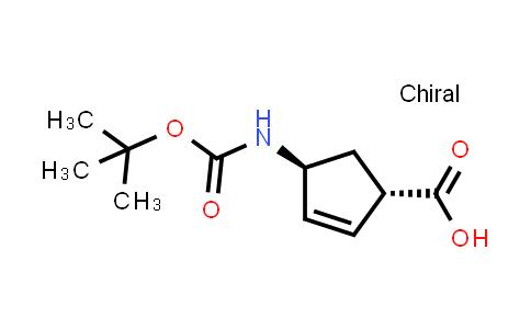 (1S,4S)-4-((tert-Butoxycarbonyl)amino)cyclopent-2-enecarboxylic acid