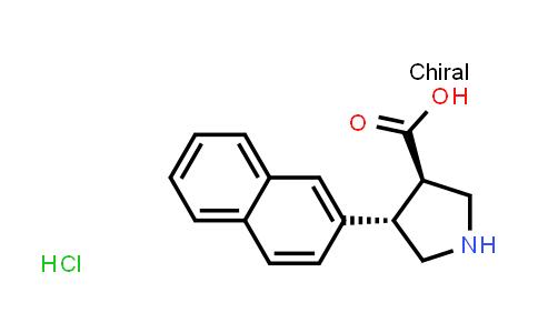 (3R,4S)-rel-4-(Naphthalen-2-yl)pyrrolidine-3-carboxylic acid hydrochloride