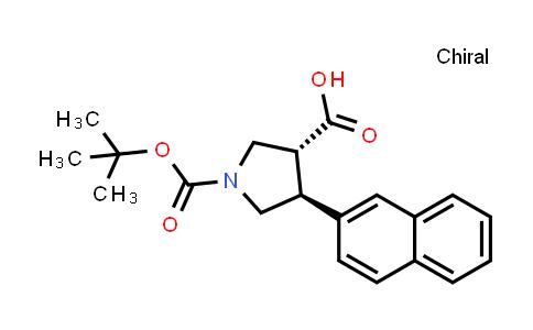 (3R,4S)-rel-1-(tert-Butoxycarbonyl)-4-(naphthalen-2-yl)pyrrolidine-3-carboxylic acid