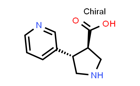 (3R,4S)-rel-4-(Pyridin-3-yl)pyrrolidine-3-carboxylic acid