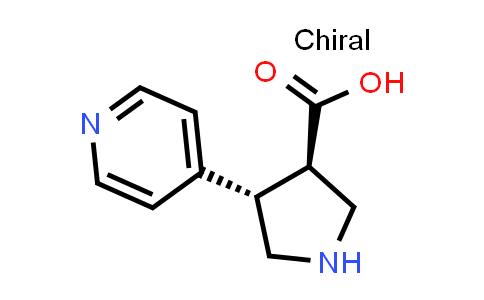 (3R,4S)-rel-4-(Pyridin-4-yl)pyrrolidine-3-carboxylic acid