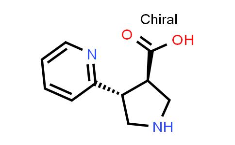 (3R,4R)-rel-4-(Pyridin-2-yl)pyrrolidine-3-carboxylic acid
