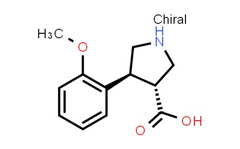 (3R,4S)-rel-4-(2-Methoxyphenyl)pyrrolidine-3-carboxylic acid