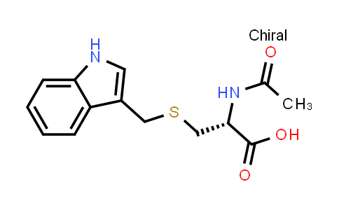 (R)-3-(((1H-Indol-3-yl)methyl)thio)-2-acetamidopropanoic acid