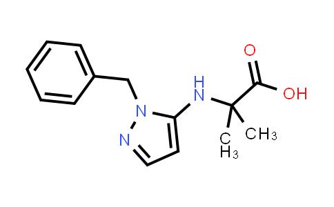 2-((1-Benzyl-1H-pyrazol-5-yl)amino)-2-methylpropanoic acid
