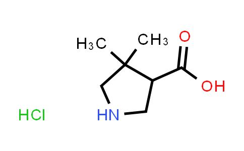 4,4-Dimethylpyrrolidine-3-carboxylic acid hydrochloride