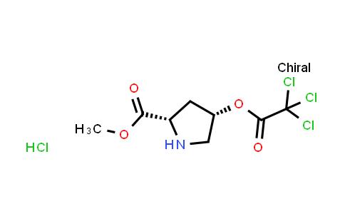 (2S,4S)-Methyl 4-(2,2,2-trichloroacetoxy)pyrrolidine-2-carboxylate hydrochloride