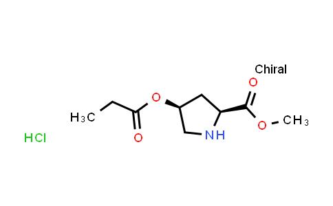 (2S,4S)-Methyl 4-(propionyloxy)pyrrolidine-2-carboxylate hydrochloride