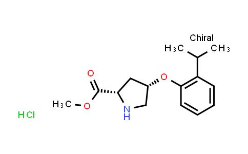 (2S,4S)-Methyl 4-(2-isopropylphenoxy)pyrrolidine-2-carboxylate hydrochloride