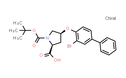 (2S,4S)-4-((3-Bromo-[1,1'-biphenyl]-4-yl)oxy)-1-(tert-butoxycarbonyl)pyrrolidine-2-carboxylic acid