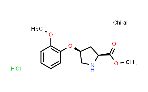 (2S,4S)-Methyl 4-(2-methoxyphenoxy)pyrrolidine-2-carboxylate hydrochloride