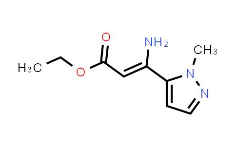 (Z)-Ethyl 3-amino-3-(1-methyl-1H-pyrazol-5-yl)acrylate