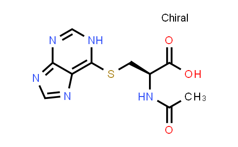 (R)-3-((1H-Purin-6-yl)thio)-2-acetamidopropanoic acid