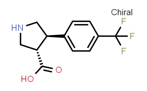 trans-4-(4-(Trifluoromethyl)phenyl)pyrrolidine-3-carboxylic acid