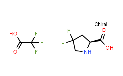 (S)-4,4-Difluoropyrrolidine-2-carboxylic acid compound with 2,2,2-trifluoroacetic acid (1:1)