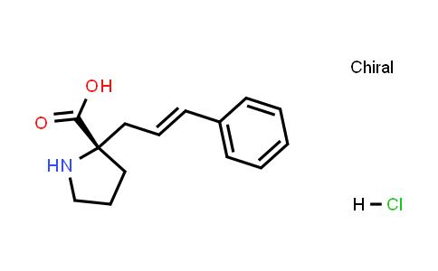 (S,2E)-2-Cinnamylpyrrolidine-2-carboxylic acid hydrochloride