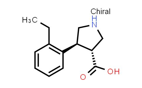 (3R,4S)-rel-4-(2-Ethylphenyl)pyrrolidine-3-carboxylic acid