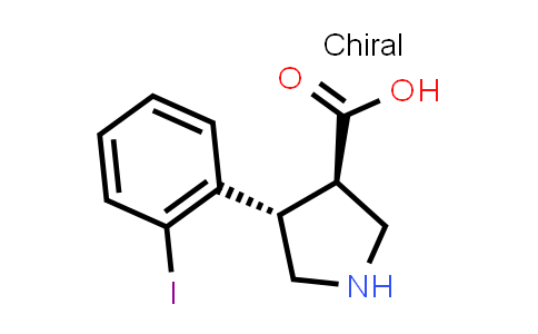 (3R,4S)-rel-4-(2-Iodophenyl)pyrrolidine-3-carboxylic acid