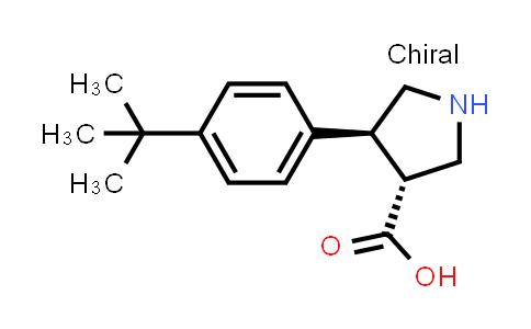 (3R,4S)-rel-4-(4-(tert-Butyl)phenyl)pyrrolidine-3-carboxylic acid