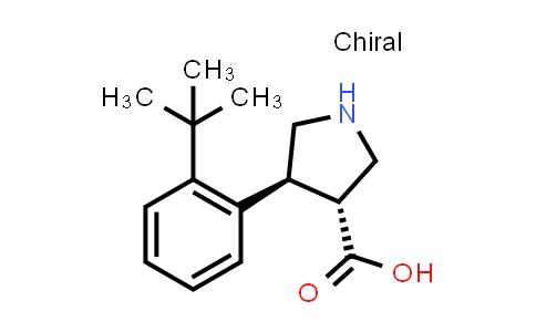 (3R,4S)-rel-4-(2-(tert-Butyl)phenyl)pyrrolidine-3-carboxylic acid