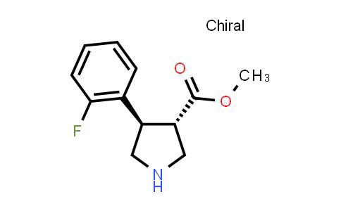(3S,4R)-Methyl 4-(2-fluorophenyl)pyrrolidine-3-carboxylate