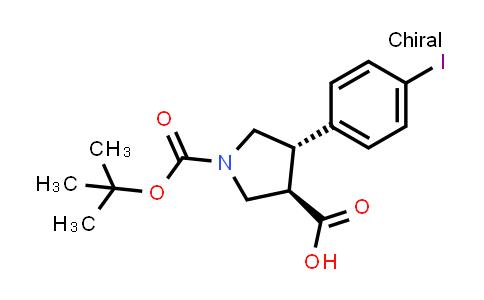 (3R,4S)-rel-1-(tert-Butoxycarbonyl)-4-(4-iodophenyl)pyrrolidine-3-carboxylic acid