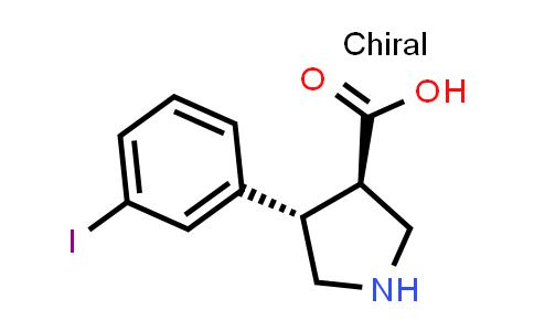 (3R,4S)-rel-4-(3-Iodophenyl)pyrrolidine-3-carboxylic acid