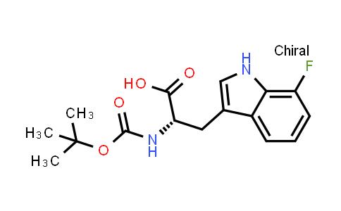 (S)-2-((tert-Butoxycarbonyl)amino)-3-(7-fluoro-1H-indol-3-yl)propanoic acid