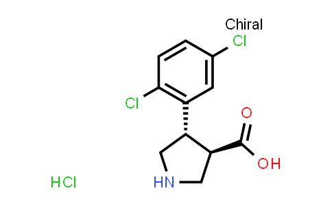 (3R,4S)-rel-4-(2,5-Dichlorophenyl)pyrrolidine-3-carboxylic acid hydrochloride