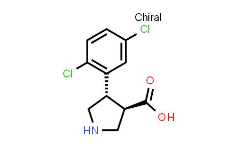 (3R,4S)-rel-4-(2,5-Dichlorophenyl)pyrrolidine-3-carboxylic acid