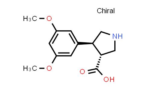 (3R,4S)-rel-4-(3,5-Dimethoxyphenyl)pyrrolidine-3-carboxylic acid