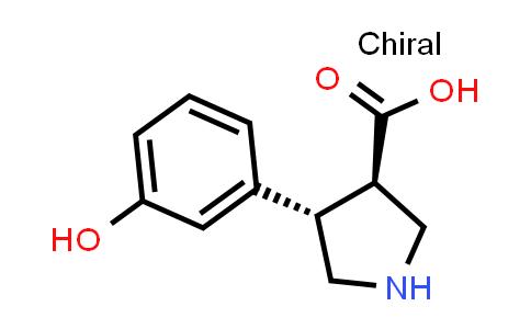 (3R,4S)-rel-4-(3-Hydroxyphenyl)pyrrolidine-3-carboxylic acid