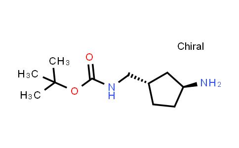trans-(3-Amino-cyclopentylmethyl)-carbamic acid tert-butyl ester