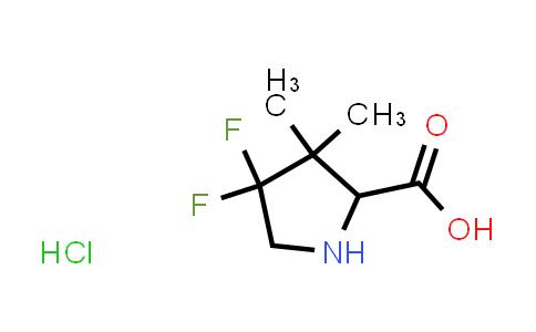 4,4-Difluoro-3,3-dimethylpyrrolidine-2-carboxylic acid hydrochloride